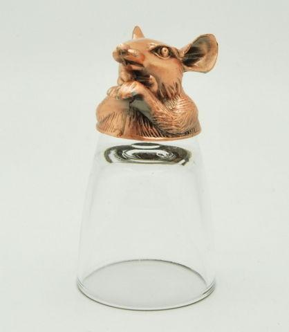 Бронзовая рюмка-перевертыш Мышь