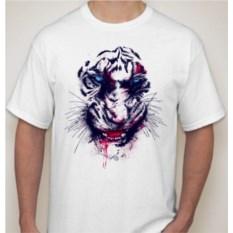 Мужская футболка Тигр с кровью на зубах