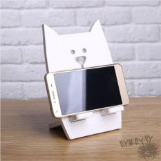 Подставка под телефон и планшет Белый кот