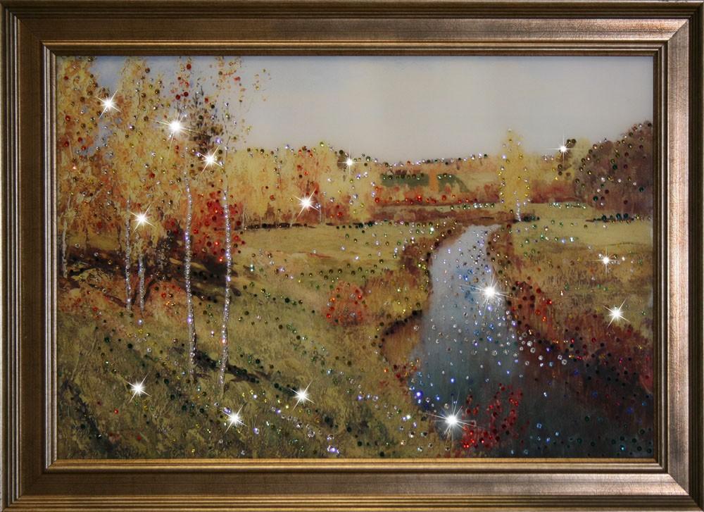 Картина с кристаллами Сваровски Золотая осень