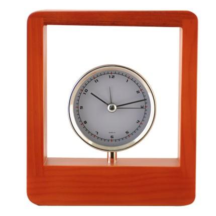 Часы Frame в деревянной рамке, коричневые
