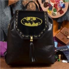 Женский кожаный рюкзак ручной работы Бэтмэн