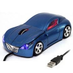 Мышь для Пк в виде гоночного авто, синяя