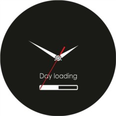 Стеклянные настенные часы День загружается