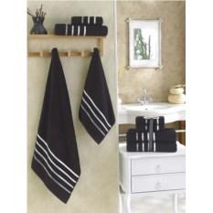 Комплект полотенец Karna Bale (цвет: черный, 4 штуки)