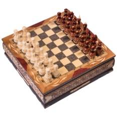 Большие резные шахматы в ларце