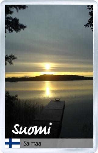 Магнит на холодильник: Финляндия. Озеро Сайма