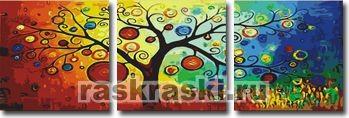 Раскраска по номерам Menglei «Древо богатства»