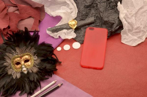 Чехол для iPhone 6 Plus силиконовый TPU (Красный, матовый)