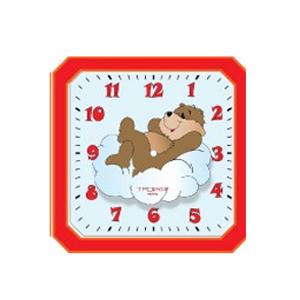 Часы детские настенные «Мишка на облаке»