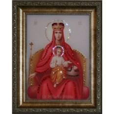 Икона Божией Матери Державная с кристаллами Swarovski