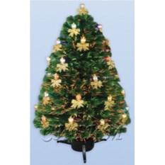 Оптоволоконная елка со светодиодными свечами