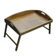 Столик для завтрака с 3-мя высокими бортиками (цвет: орех)