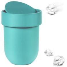 Контейнер мусорный Touch с крышкой (цвет: морская волна)