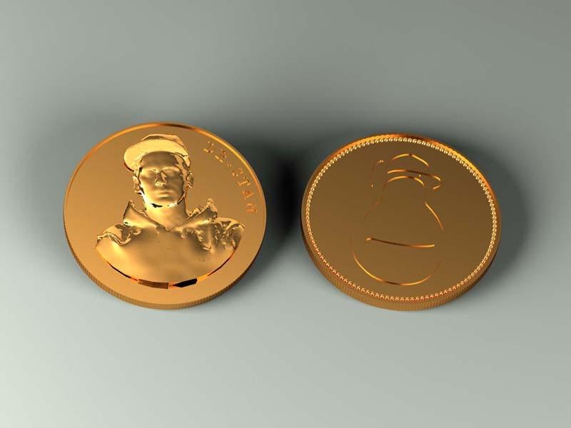 Монета 3DYA (бронза / латунь)