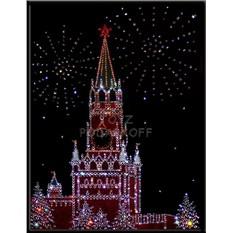 Картина с кристаллами Swarovski Москва праздничная