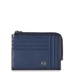 Синий чехол для кредитных карт Piquadro Edge