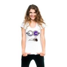 Женская футболка Зубастый миньон