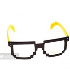 Желтые пиксельные очки