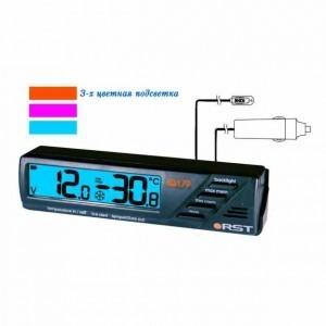 Автомобильный вольтметр с термометром