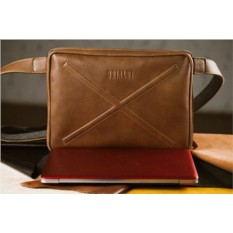 Кожаная сумка через плечо Brialdi Killeen (цвет — рыжий)