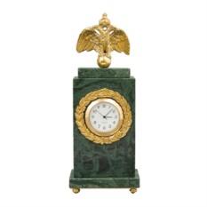 Зеленые мраморные часы интерьерные Александр II