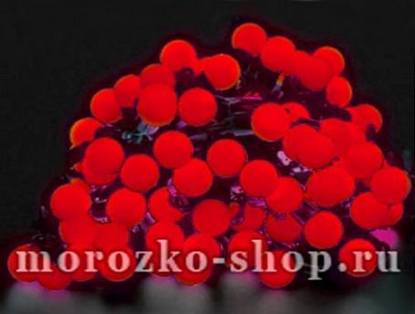 Электрогирлянда Большие красные мультишарики, 100 красных LED ламп