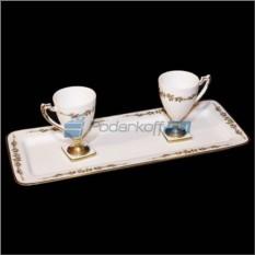 Кофейный набор 2 чашки и поднос