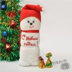 Махровое полотенце Снеговик