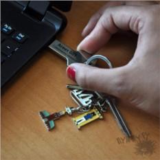 Именная флешка Ключ (цвет — серебряный)