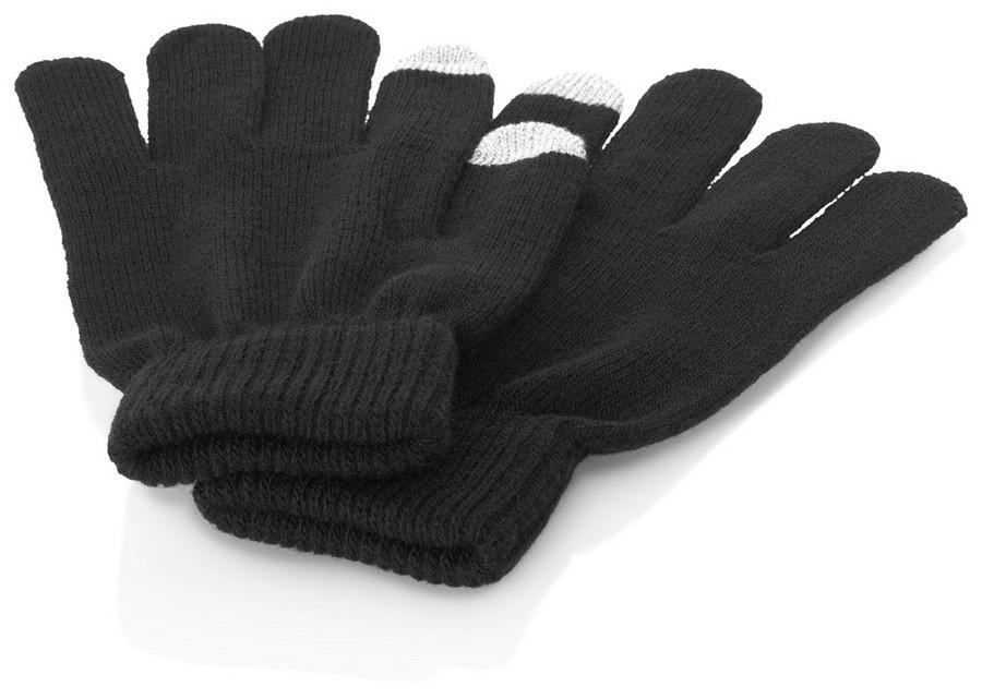 Перчатки для сенсорного экрана, черные, размер s/m