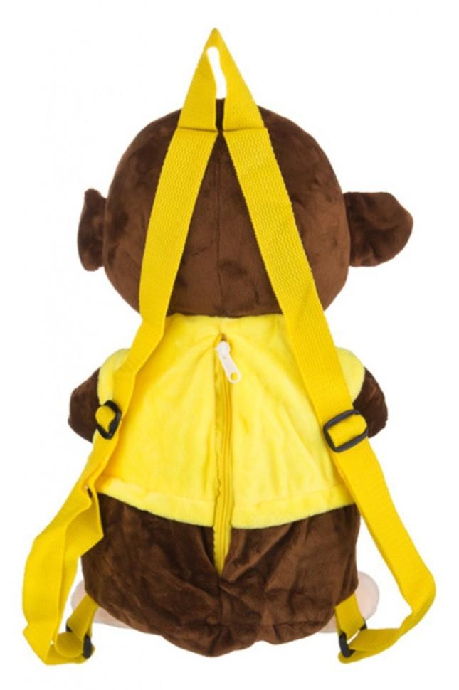 Мягкая игрушка-рюкзачок Обезьянка-мальчик
