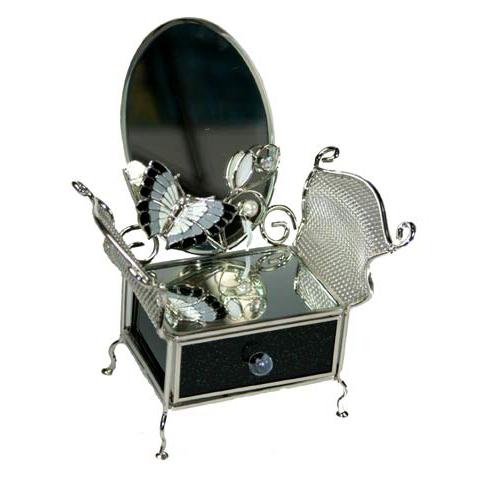 Шкатулка с зеркалом «Ночной мотылёк»