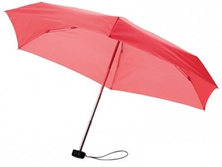 Красный складной механический зонт в футляре