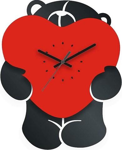 Настенные часы Мишка с сердцем
