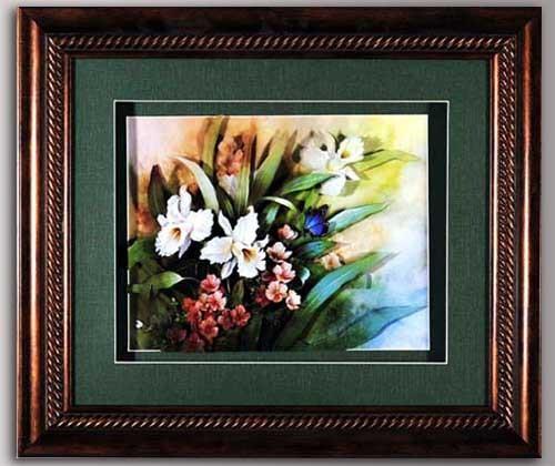 Декоративное панно, цветы