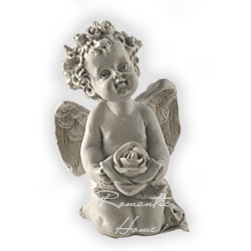 Статуэтка Ангелочек с розой