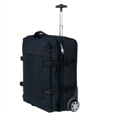 Черная дорожная сумка на колесиках