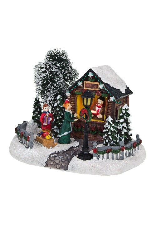 Новогоднее светящееся украшение Магазин подарков