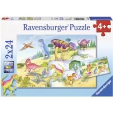 Набор пазлов Ravensburger Красочные динозавры