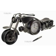 Мотоцикл с часами (60 см, металл)