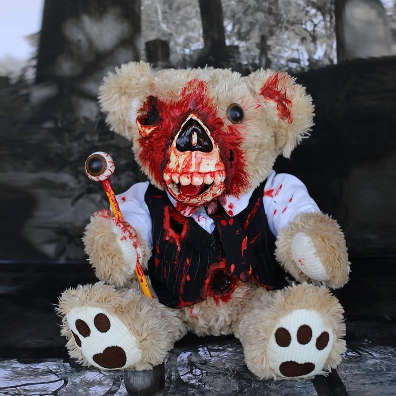 Игрушка Walking Ted Clerk - медведь-зомби ручной работы