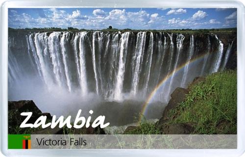 Магнит на холодильник: Замбия. Водопад Виктория