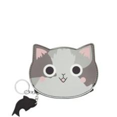 Кошелек для мелочи Котик (серый)