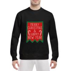 Черный мужской свитшот Merry Christmas