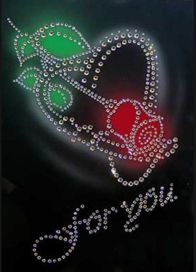 Картина с кристаллами Swarovski Роза большая