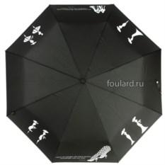 Классический женский зонт с рисунком EMME Coco Nero