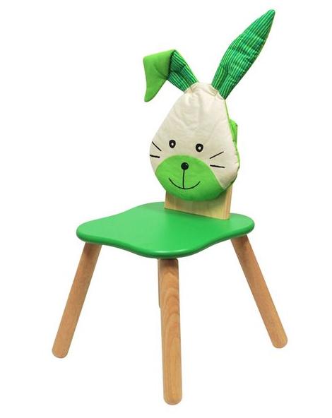 Детский стул Зайчик зелёный, I'm Toy