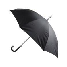 Черный зонт-трость с металлическим корпусом