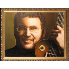 Оригинальный портрет гитаристу